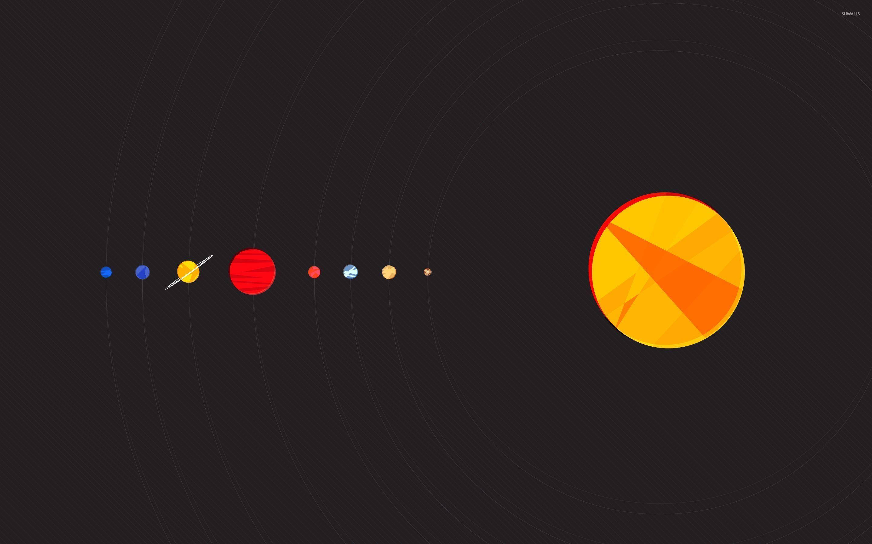minimalist solar system drawing - photo #19