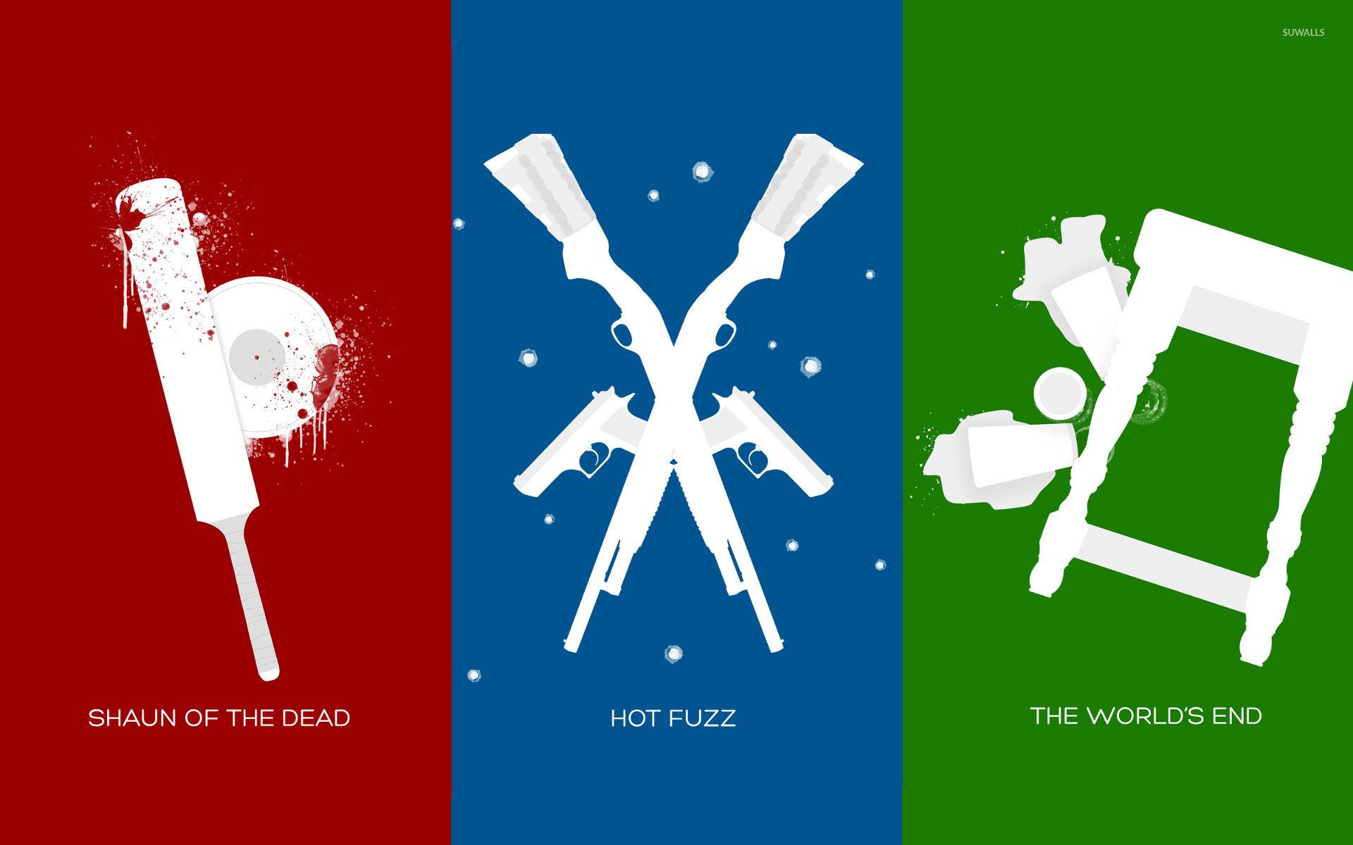 Three Flavours Cornetto Trilogy Wallpaper Minimalistic