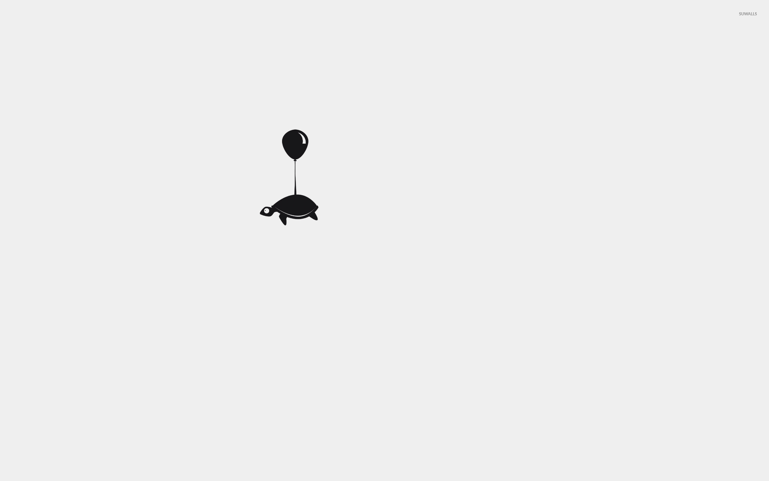 Turtle with a balloon wallpaper minimalistic wallpapers 41843