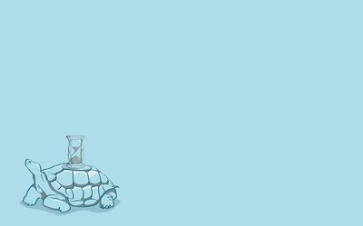 Turtle with a hourglass on its shell wallpaper