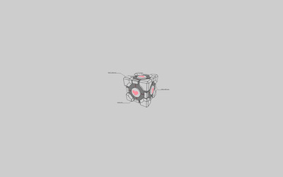 Weighted Companion Cube wallpaper