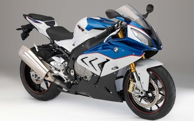 2015 blue and white BMW S1000RR wallpaper