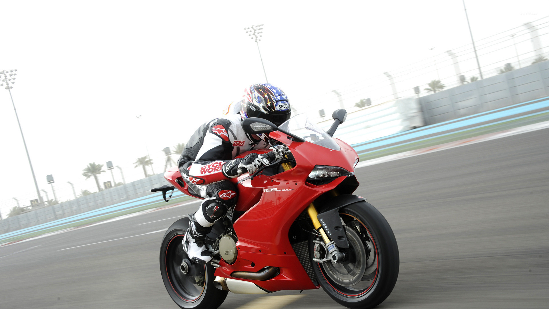 2015 red ducati 1199 panigale side view wallpaper - motorcycle