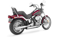Back side view of a 2007 Harley-Davidson wallpaper 1920x1200 jpg