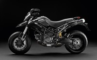 Black 2012 Ducati Hypermotard side view wallpaper 1920x1200 jpg