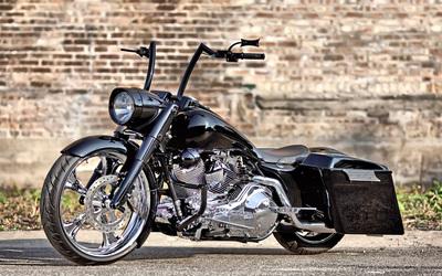 Black custom made motorcycle wallpaper