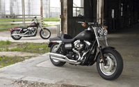 Black Harley-Davidson front side view wallpaper 1920x1200 jpg