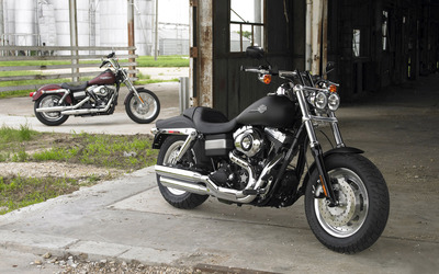 Black Harley-Davidson front side view wallpaper