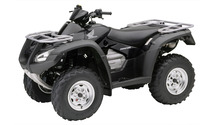 Black Honda Rincon front side view wallpaper 1920x1200 jpg