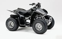 Black Honda TRX90 front side view wallpaper 1920x1200 jpg