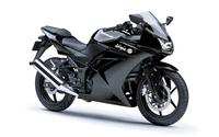 Black Kawasaki Ninja 250R wallpaper 1920x1200 jpg