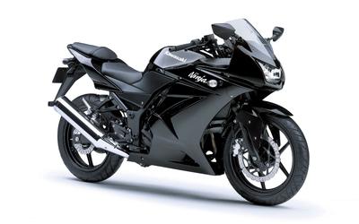 Black Kawasaki Ninja 250R wallpaper