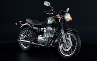 Black Kawasaki W800 side view wallpaper 2560x1600 jpg