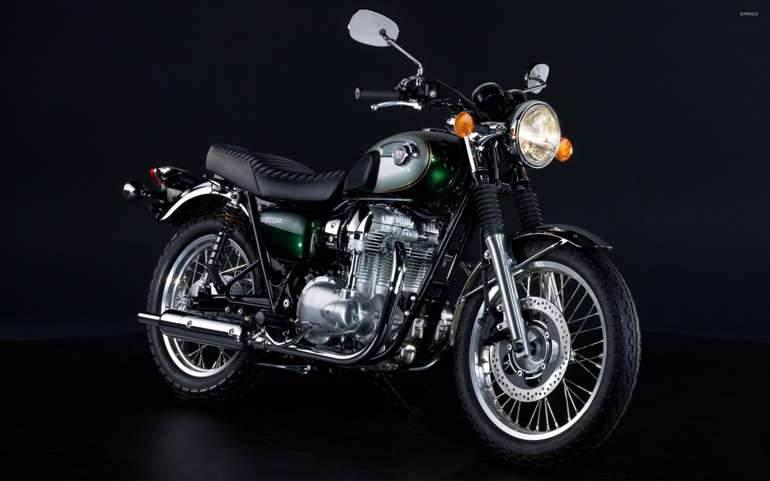 Black Kawasaki W800 Side View Wallpaper Motorcycle Wallpapers 47409