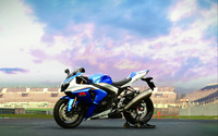 Blue Suzuki GSX-R1000 side view wallpaper 2560x1600 jpg