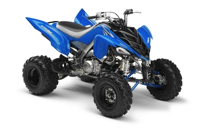 Blue Yamaha Raptor 700R front side view Wallpaper