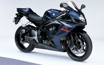 Dark blue Suzuki GSX-R750 wallpaper