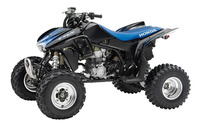 Front side view of a blue 2014 Honda TRX450R wallpaper 1920x1200 jpg