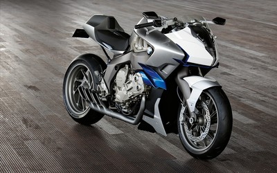 Front side view of a BMW K1200R Wallpaper