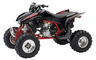 Front side view of a Honda TRX450R wallpaper