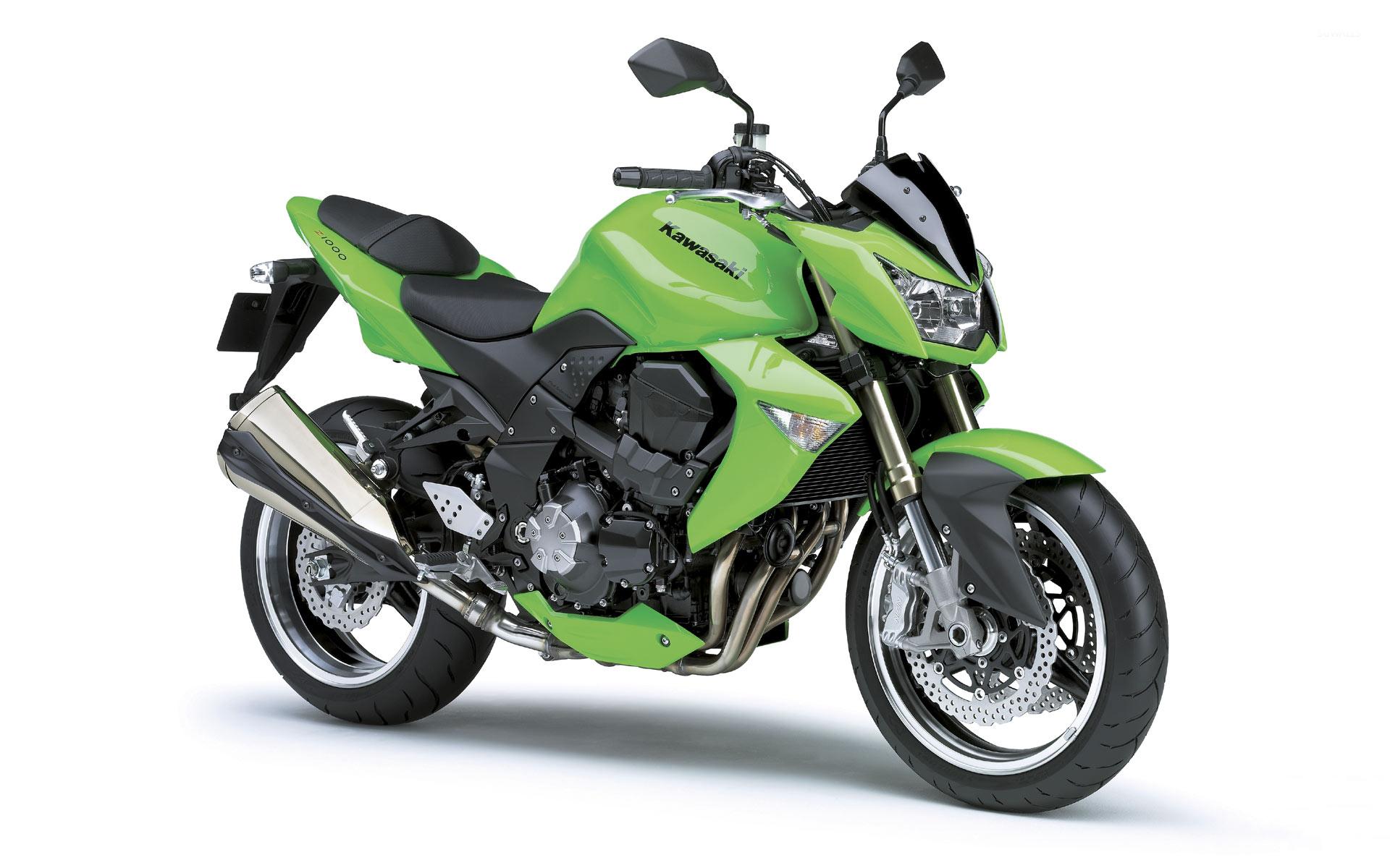 Green 2008 Kawasaki Z1000 Wallpaper