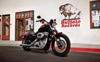 Parked black Harley-Davidson Sportster wallpaper 1920x1200 jpg