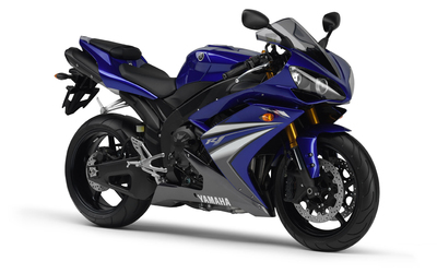 Purple Yamaha YZF-R1 side view wallpaper