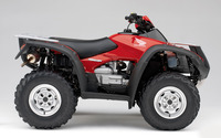 Red Honda Rincon side view wallpaper 1920x1200 jpg
