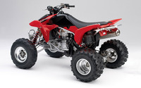 Red Honda TRX450R back side view wallpaper 1920x1200 jpg