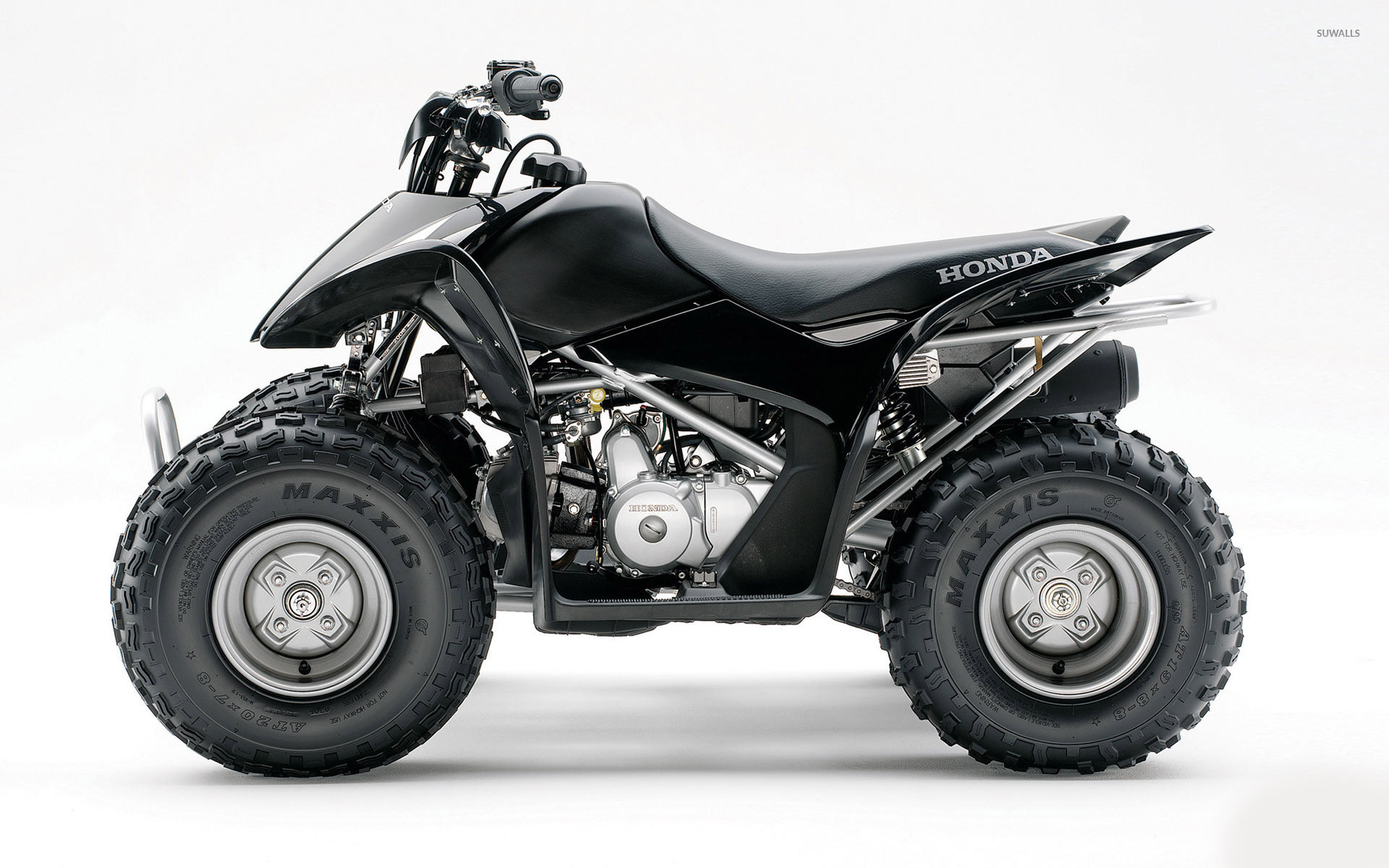 Side View Of A Black Honda Atv Wallpaper Motorcycle Wallpapers