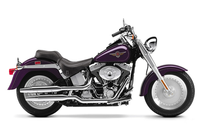 Side view of a purple 2002 Harley-Davidson wallpaper