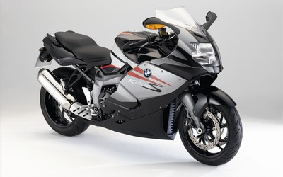 Silver BMW K1300S side view wallpaper