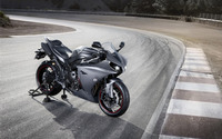 Silver Yamaha YZF-R1 on the racing track wallpaper 2560x1600 jpg