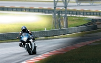 Suzuki GSX-R750 on the race track wallpaper 1920x1200 jpg