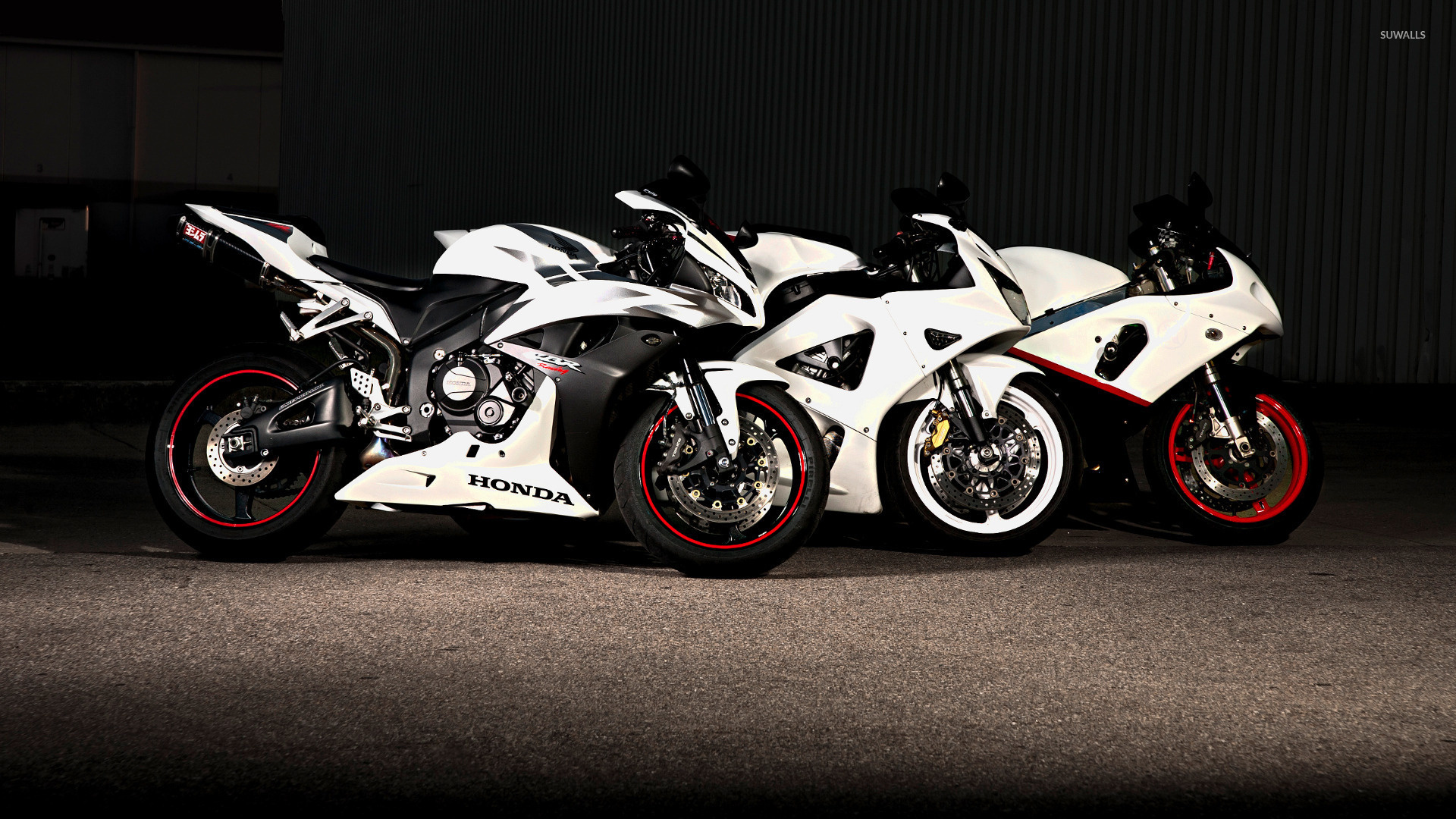 White Honda CBR Series Motorcycles Wallpaper