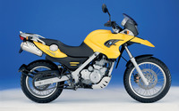 Yellow BMW F650GS side view wallpaper 1920x1200 jpg