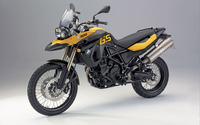 Yellow BMW F800GS front side view wallpaper 1920x1200 jpg