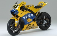 Yellow Yamaha YZR-M1 front side view wallpaper 1920x1080 jpg