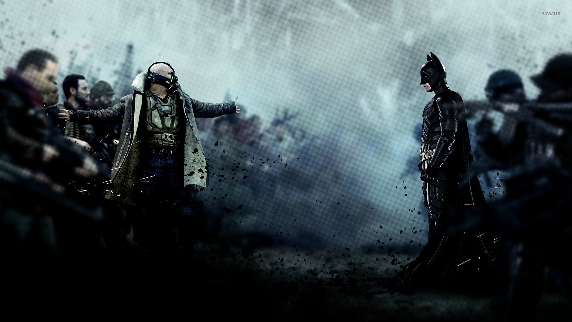 Bane And Batman The Dark Knight Rises Wallpaper Movie