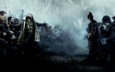 Bane and Batman - The Dark Knight Rises wallpaper