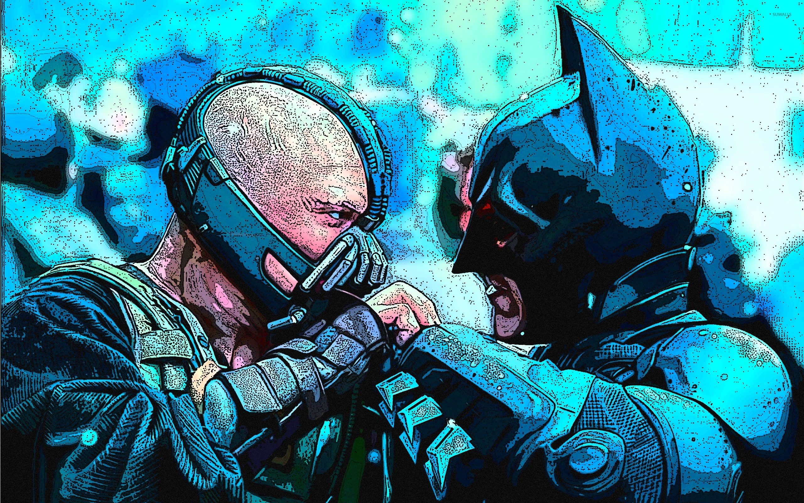 Batman vs Bane - The Dark Knight Rises wallpaper - Movie