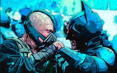 Batman vs Bane - The Dark Knight Rises wallpaper