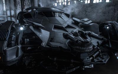 Batmobile - Batman vs. Superman wallpaper