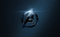 Black metallic Avengers logo wallpaper 1920x1080 jpg