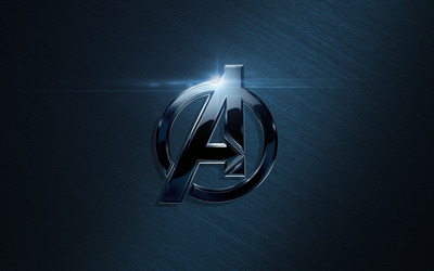 Black metallic Avengers logo wallpaper