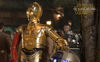 C-3PO in Star Wars: The Force Awakens wallpaper 2880x1800 jpg