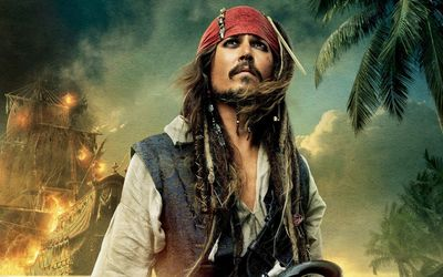 Captain Jack Sparrow - The Pirates of the Caribbean wallpaper