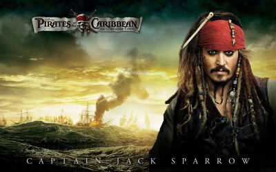 Captain Jack Sparrow - The Pirates of the Caribbean - On Strange wallpaper