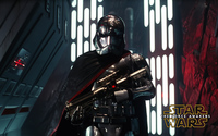 Captain Phasma with a gun - Star Wars: The Force Awakens wallpaper 2560x1600 jpg