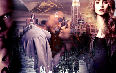 Clary and Jace - The Mortal Instruments: City of Bones wallpaper